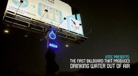 "Un Billboard ""green"" che produce acqua potabile - Ninja Marketing 