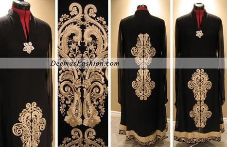 Stylish Black Embroidered Dress   Latest Pakistani Fashion Bridal Mehndi Wear Formal Dresses Casual Clothing 2011   one-piece dress   Scoop.it