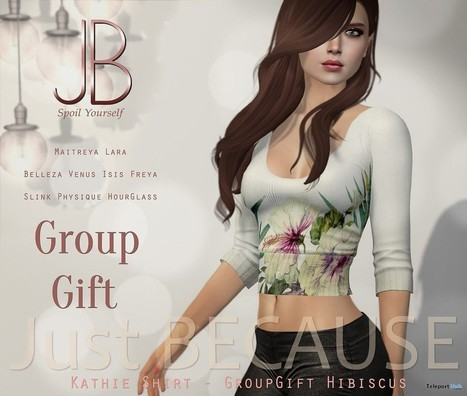 Kathie Shirt Hibiscus Group Gift by Just Because | Teleport Hub - Second Life Freebies | Second Life Freebies | Scoop.it