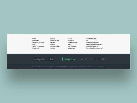 Designing Website Footers   Webdesign et Ergonomie   Scoop.it