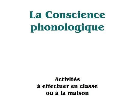 Conscience phonologique, un guide | AM STRAM GRAM, la conscience phonologique | Scoop.it
