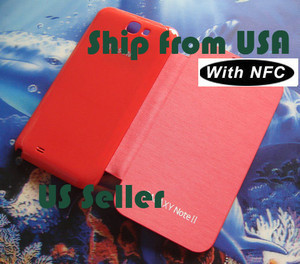 RED Flip Leather Case Cover For Sumsung Galaxy Note 2 N7100 I317 T889 With NFC | Hot deals on dadawireless | Scoop.it