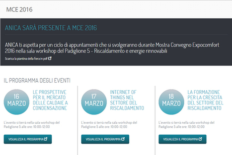 ANICA a MCE 2016 per il risparmio energetico | Social Media Press | Scoop.it