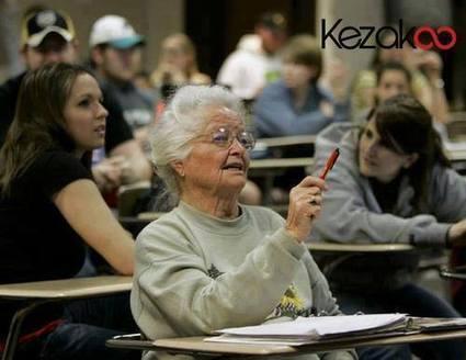 Une étudiante de 87 ans | Productivité et santé au travail | Scoop.it