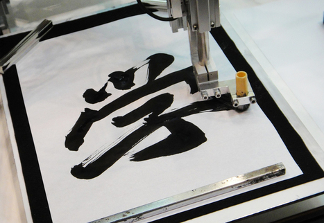 traditional japanese calligraphy mimicked by robots | Robohub | Scoop.it
