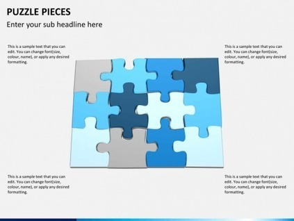 Puzzle Pieces Diagram for PowerPoint | PowerPoint Diagrams & Charts | Scoop.it