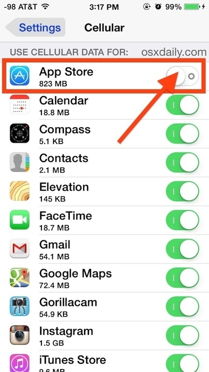 How to Control What Apps Can Use Cellular Data on iPhone | mrpbps iDevices | Scoop.it