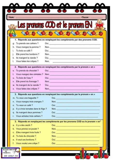 Pronoms COD et EN | Nouvelles EDU - FLE | Scoop.it