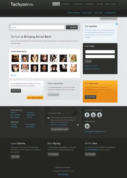 Tachyon Drupal Theme for Social Networking Websites | music | Scoop.it