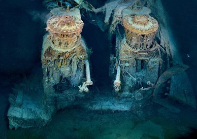 Picture of the Day: Titanic's Engines Underwater | Lets Get Wet - Scuba and Ocean News | Scoop.it
