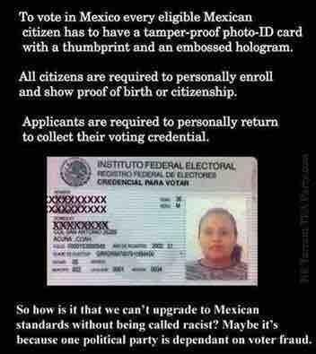 In Puerto Rico, USA you need a voter ID too.  Puerto Rico is being racist according to the liberals.   Criminal Justice in America   Scoop.it