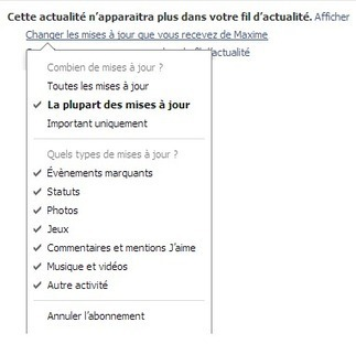 Comment nettoyer son fil d'actualité Facebook | Time to Learn | Scoop.it