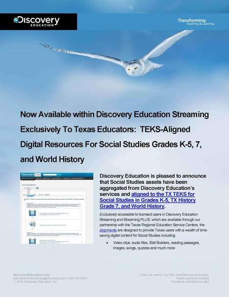 Discovery Education Events | Digital textbooks and standards-aligned educational resources | Information Powerhouses | Scoop.it