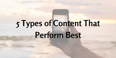 5 Types of Content That Perform Best | Business in a Social Media World | Scoop.it