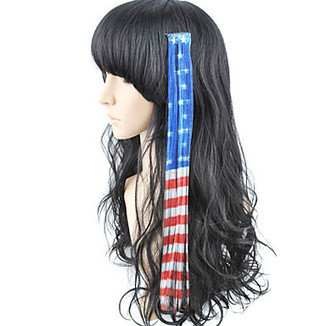 10 Pcs Clip In Highlight US Flag Synthetic Hair Extensions – WigSuperDeal.com | Hair Extensions and Hairpieces | Scoop.it