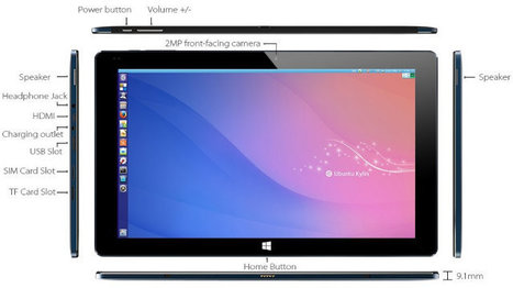 Cube i7-CM is an Ubuntu Tablet Powered by Intel Core M-5Y10 Processor | Embedded Systems News | Scoop.it