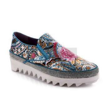 [$69.99]Flower Print Flats Around Cyrstals | Where do you usually shopping online | Scoop.it