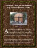 An Extraordinary way to live under Safety Swathe   Electric gates   Scoop.it
