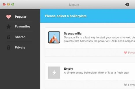 Mixture - A rapid prototyping and static site generation tool for designers and developers | Ma veille technos web | Scoop.it
