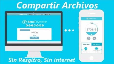 Como Compartir archivos sin registro, sin internet – Web o Móvil App | PCWebtips.com | Profesionales virtuales | Scoop.it