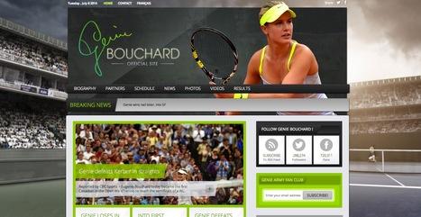 Beau Site WordPress: Genie Bouchard | Beaux sites WordPress | Scoop.it