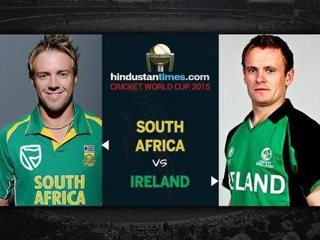 24th Match, Pool B: Ireland v South Africa at Canberra, Mar 3, 2015 - Live Cricket Score - UpCric.com | Live Cricket Scores and Match Highlights | Scoop.it