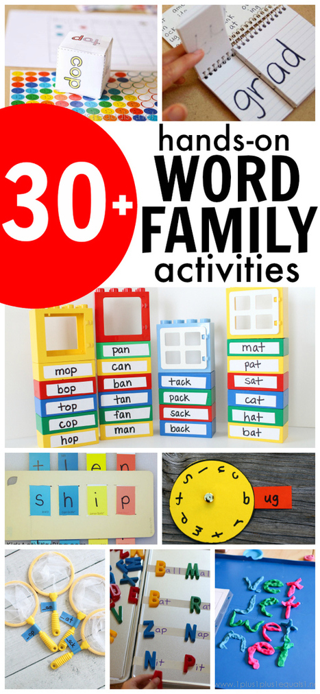 30+ Hands-On Word Family Activities - I Can Teach My Child! | Learn through Play - pre-K | Scoop.it
