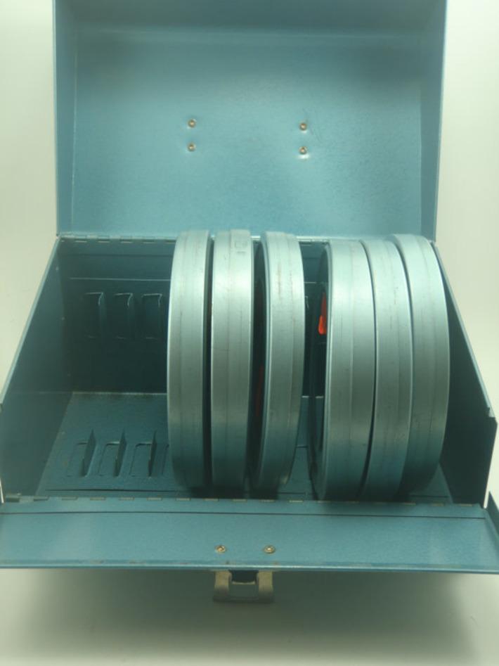 Industrial Vinage Blue Metal Film Storage Box   Antiques & Vintage Collectibles   Scoop.it