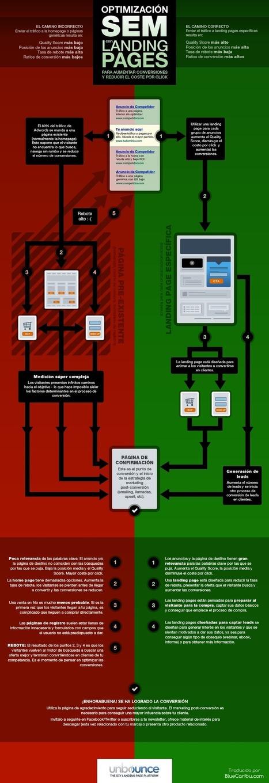 Optimización SEM con landing pages #infografia #infographic #seo ... | Adwords SEM PPC | Scoop.it