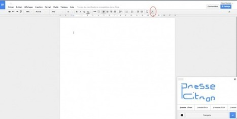 Gmail et Google Docs supportent maintenant l'écriture manuscrite | Universités et réseaux sociaux | Scoop.it