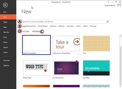 Backstage View - New Option in PowerPoint 2013 for Windows | PowerPoint Tutorials | Scoop.it