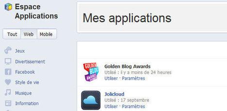 Reprends le contrôle de tes applications sur Facebook | Ac'tice | Scoop.it