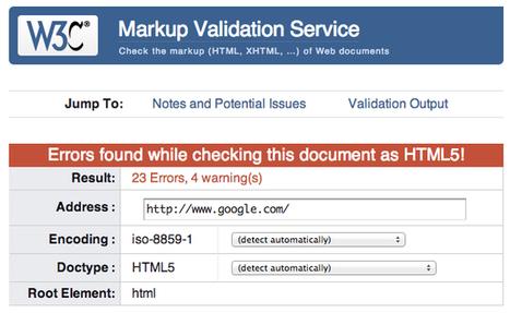 Erreurs de validation W3C : pas de pénalité pour le référencement | iamjithin | Scoop.it