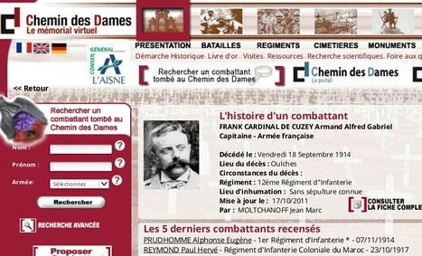 Mémorial Virtuel du Chemin des Dames | Rhit Genealogie | Scoop.it
