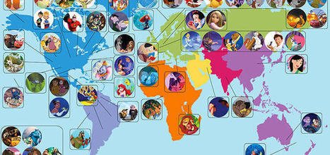 Tous les films Disney sur une carte du monde | Discovery, Sharing... :) | Scoop.it