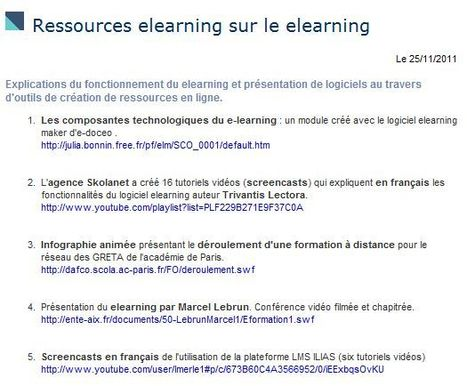 Ressources sur le elearning | Time to Learn | Scoop.it