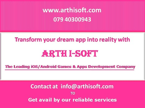 Get Benefited by Affordable App Development Service from Arth I-Soft - Mobile Apps Development Company. | iphone application development | Scoop.it