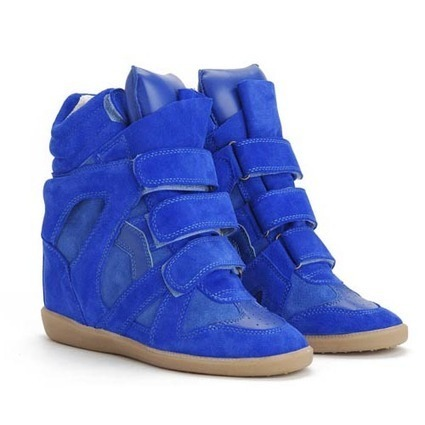Upere Wedge Sneakers Suede Cobalt Blue - $191.98 | UPERE Wedge Sneakers Show | Scoop.it