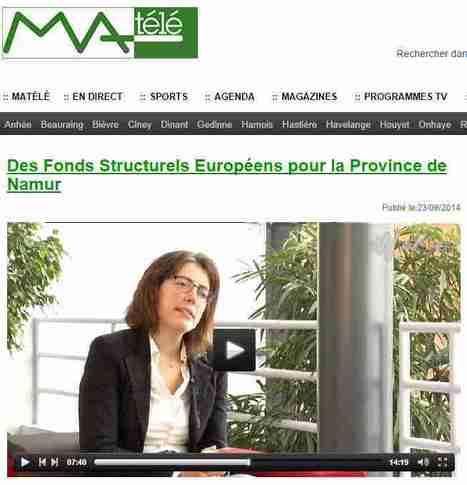 Des Fonds Structurels Européens pour la Province de Namur - MAtele | Toutes les infos sur les projets FEDER-FSE 2014-2020 | Scoop.it