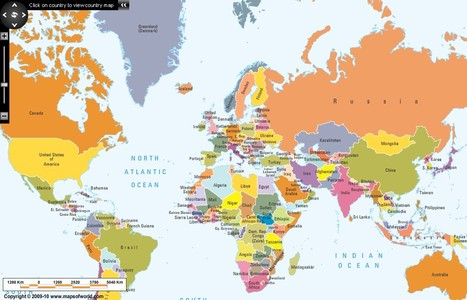 World Interactive Map | Media and Information Literacy for Next Gen | Scoop.it