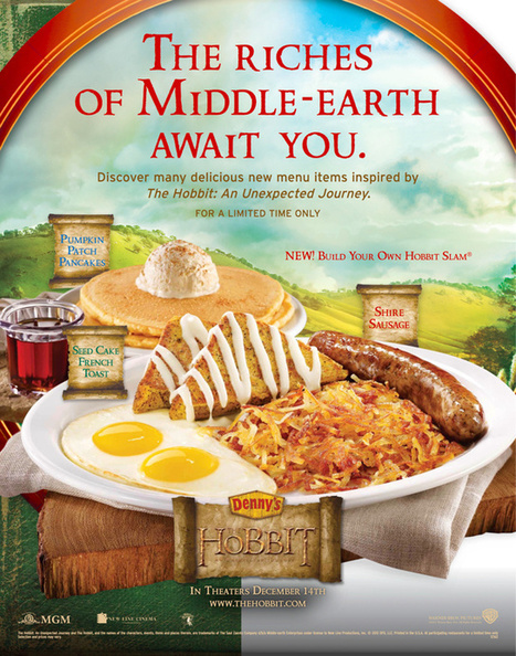 The Hobbit's Second Breakfast being served at Denny's is something that is happening | 'The Hobbit' Film | Scoop.it