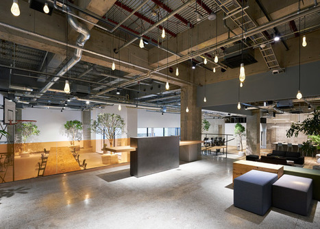 Torafu Architects uses concrete, wood and gravel to define spaces inside AKQA's Tokyo offices | Inspired By Design | Scoop.it