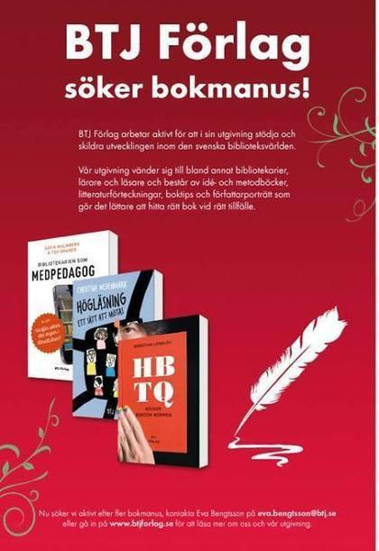 BTJ förlag söker bokmanus! | Tekoppens tankar | Skolbiblioteket och lärande | Scoop.it