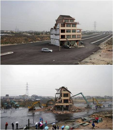 End to Life in the Fast Lane: House in middle of motorway in China is demolished after duck farmer owner agrees to move on | Beijing, China Powerhouse | Scoop.it