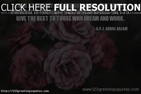 Abdul kalam Inspirational Words for Work & Students - Best Greetings Quotes 2016 | 123GreetingsQuotes | Scoop.it