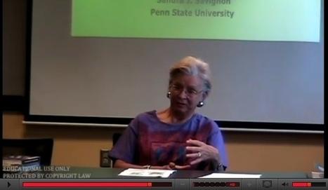 Sandra Savignon on CLT (2009 talk) | TELT | Scoop.it