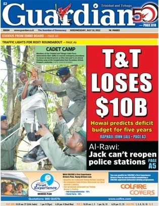 Guardian - Front Page - Wed 18th July 2012   Trininews   Scoop.it