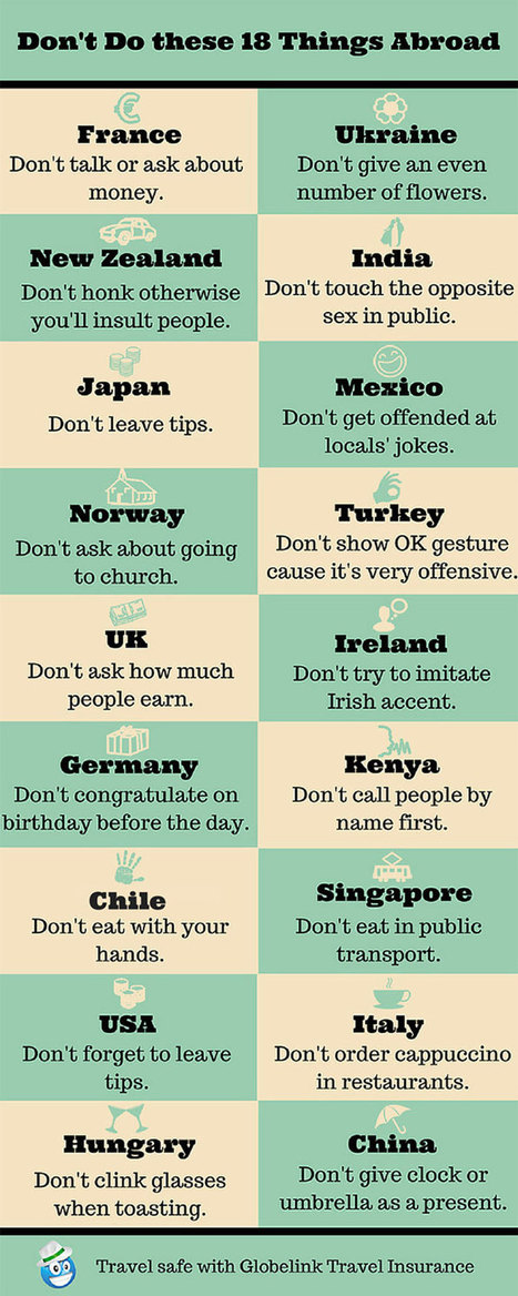 18 Things You Shouldn't Do Abroad   NOTIZIE DAL MONDO DELLA TRADUZIONE   Scoop.it