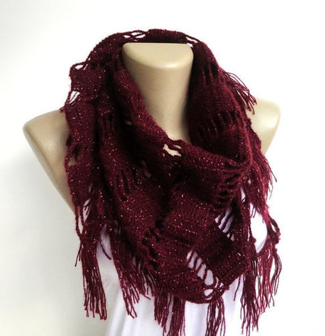 crochet scarf shawl - neckwarmer crocheted shawl scarf , gift ideas , for her | scarf | Scoop.it
