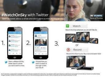 Twitter devient une télécommande #WatchOnSky : Voir ou enregistrer un programme TV | Social TV is everywhere | Scoop.it